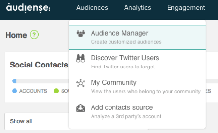 Create a new audience in Audiense.