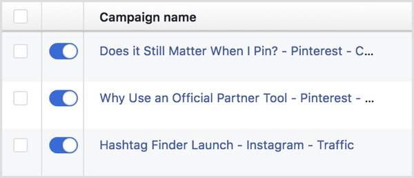 facebook ads campaign naming convention