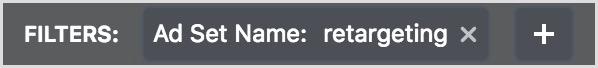 facebook ads manager retargeting filter