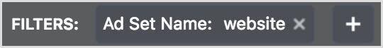 facebook ads manager website filter