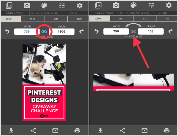 image size app retain original proportions
