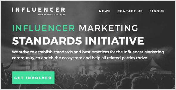 Influencer Marketing Council standards initiative