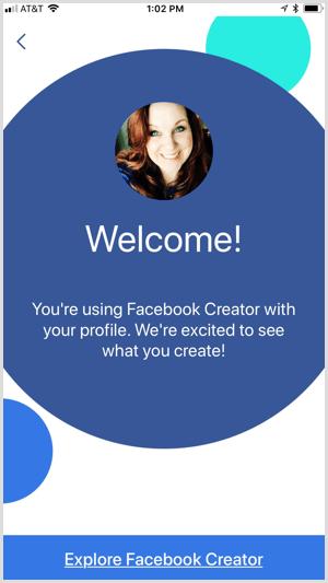 Facebook Creator app explore