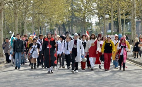 Cosplayers a Lucca
