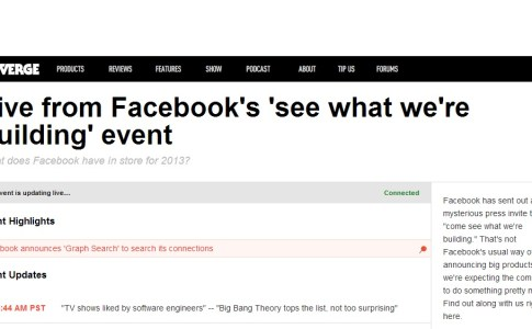 Facebook Evento See What We Are Building