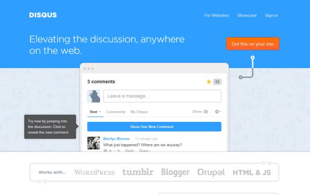 Disqus Homepage