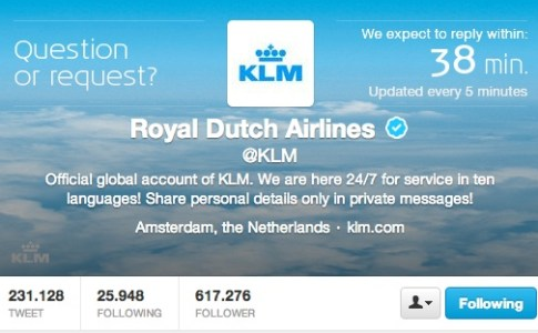 KLM Twitter Care