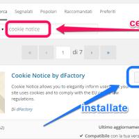 Normativa sui cookie - un plugin per wordpress