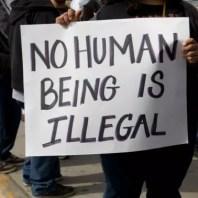refugee placard