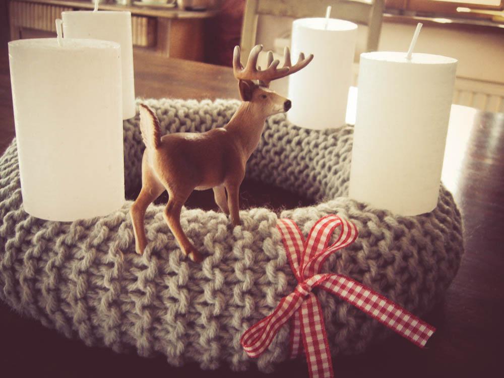 anleitung adventskranz stricken f r anf nger sockshype. Black Bedroom Furniture Sets. Home Design Ideas