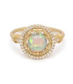 Small Of Opal Engagement Rings