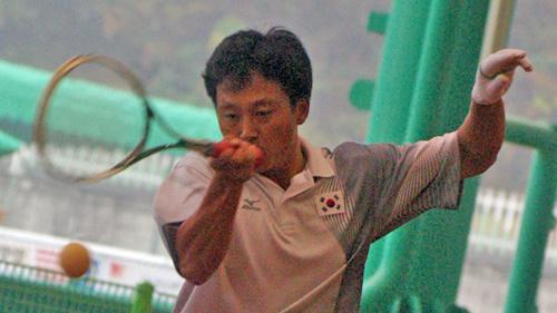 2008アジア選手権個人戦ダブルス 篠原・小林戦でのヤンチンハン