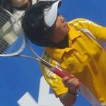 『日本にはウエハラがいる!』特集 世界ソフトテニス選手権プレヴュー 注目の選手 上原絵里のフォアハンド