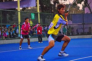 何孟勳・賴立煌。2012アジア選手権ダブルス決勝より。