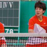 アジア競技大会韓国代表選抜戦ダブルス優勝 キムボムジュン・キムドンフン(ムンギョン)。代表選抜戦は昨年につづく二度目の優勝になる