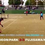 JEON/PARK vs. FUJISAWA/KOYANO [ASIA CUP2014 Men's 3rd Round DALSEONG vs. JXl 1]