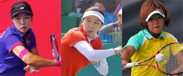 左からキムボミ、ユンスジョン(韓国) 郭千綺(台湾)