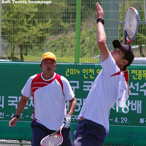 2015韓国国体男子ダブルス優勝のペウオンソン・チヨンミン。今年の代表選抜でも次点と活躍。