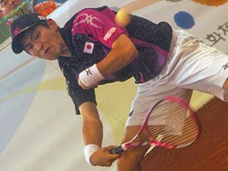 2011世界選手権での長江。彼の国際大会デヴュー戦。ドンフンと二度にわたる死闘に惜敗したが、世界にその名を轟かした。