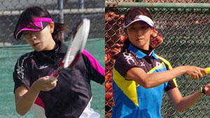 小林(左)、平久保。全日本決勝を争った二人だが、韓国の壁は厚かった、