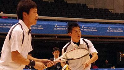 東京インドア優勝の篠原・小林。今年度はランキング1位に返り咲いたので、むろん今冬も主役である。