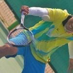 パクキョンテの技ありバックハンド!!ソフトテニス スーパースローモーションの世界