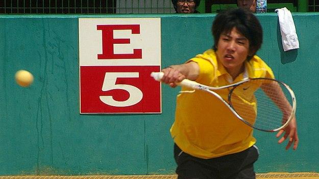 2011韓国代表選抜戦でのキムボムジュン。このころはそのイケメン以外は目立つ存在ではなかったが、バックボレーは未完ながら優れていていたように記憶している。