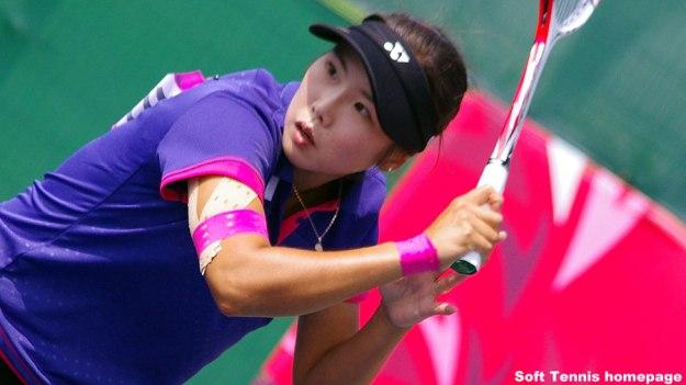 キムボミ。金メダルを獲得した2014アジア競技大会シングルスより。団体戦との二冠を達成。