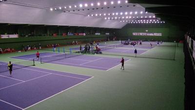 2013東アジア競技大会(天津)で使用された室内コート。会場内設備である)