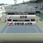 コリアカップ2015 男子シングルス決勝 キムジヌン(韓国) vs.UAYPRON SORRACHET(タイ)