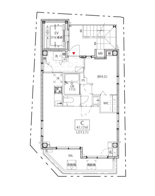 Kukai Terrace中目黒901号室図面 SOHO東京