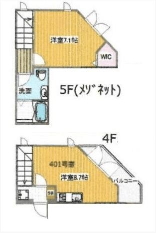 ラピス赤坂Ⅱ401間取り