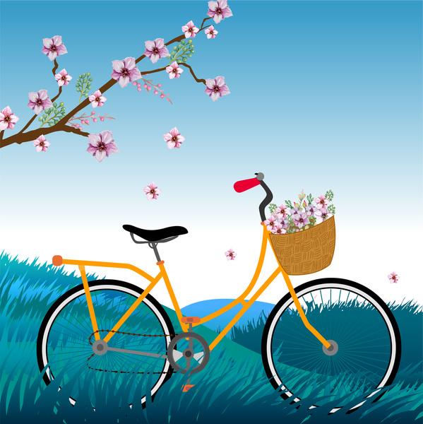 Sakura Flower Bicycle