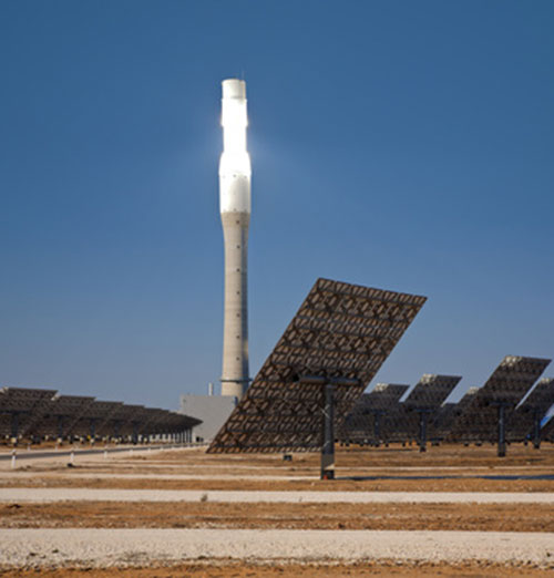 a thermal solar power station in Spain