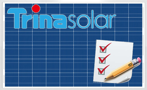 trina solar logo and checksheet