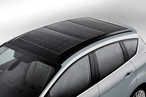 solar panels on car