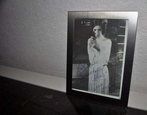 Autographed Carrie Fisher Photo as Princess Leia, 1977