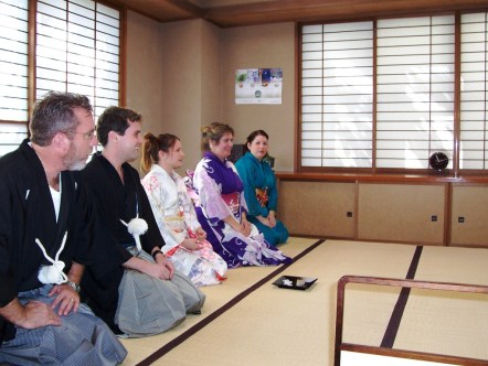 Experiencing Casual Tea Ceremony (I'm in Purple)
