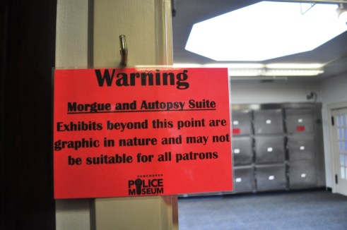 Morgue in Vancouver Police Museum