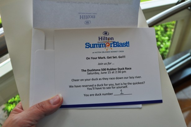 I Had Duck #1 in the Ducktona 500, SummerBlast!, Hilton Orlando Bonnet Creek, Orlando, Fla., June 15, 2013