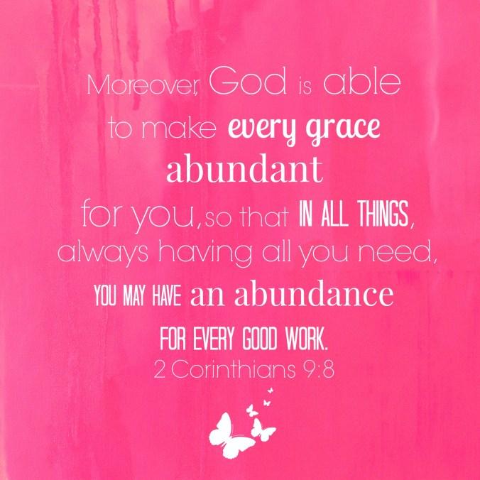 pink abundant grace