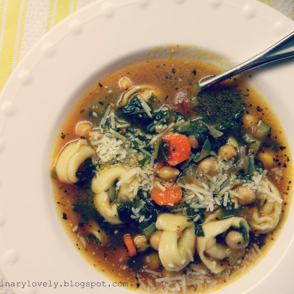 Meatless Friday: Tortellini Vegetable Soup {guest post recipe by Theresa}