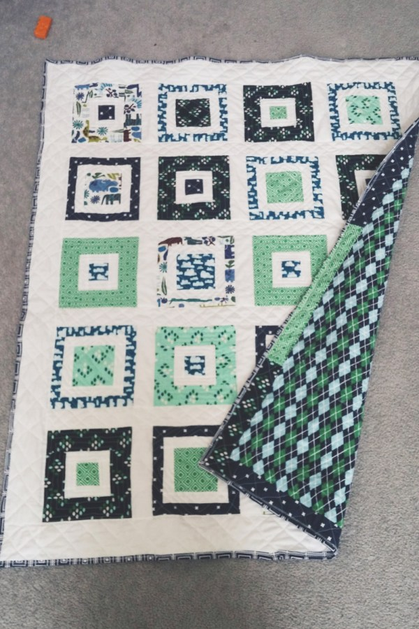 Baby Quilt and Back