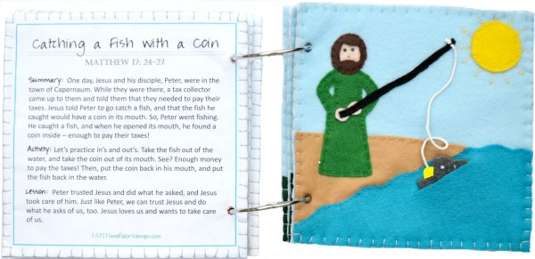 Felt Bible Activity Book for Quiet Time - Open