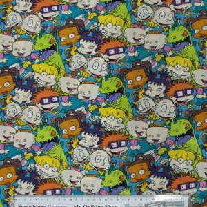 Quilting Patchwork Cotton Sewing Fabric RUGRATS NICKELODEON 50x55cm FQ NEW Material www.somethingscountry.com.au