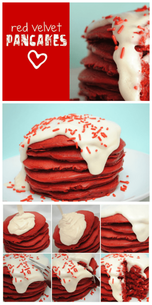 Red Velvet Pancakes | www.somethingswanky.com