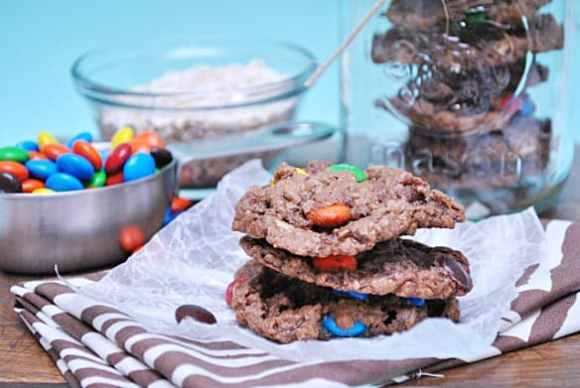 Nutella Monster Cookies from www.somethingswanky.com