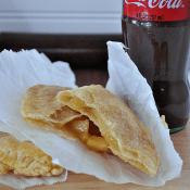 Taco Bell Caramel Empanada Copycat Recipe. So yummy! And best of all, it's baked! No messy frying! #caramel #apple #recipe