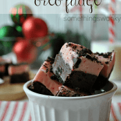 Peppermint Oreo Fudge #christmas #fudge #recipe