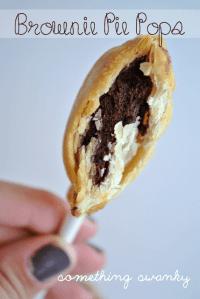 Brownie pie pops